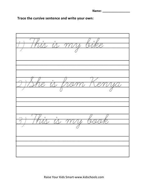 worksheet cursive sentences worksheets worksheet