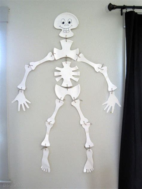 paper plate skeleton fun family crafts
