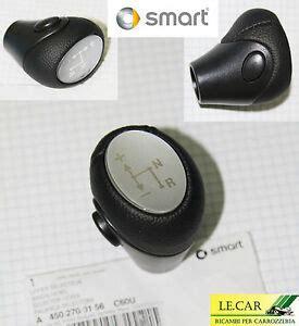 pomello smart pomello cambio in pelle nera goffrata softouch smart