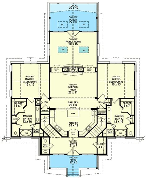 dual master suites sv architectural designs house plans