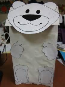 Polar Bear Paper Bag Puppet Template