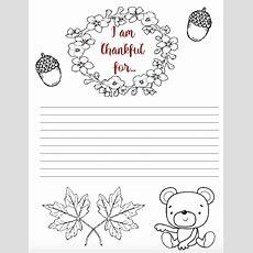 "Free Printable ""thankful For"" Worksheet 2 Designs"
