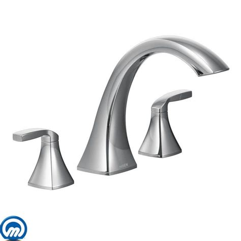 moen t693 chrome deck mounted roman tub faucet trim from