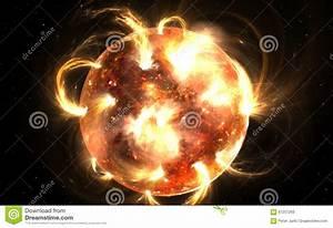 Sun With Corona. Solar Storm, Solar Flares Stock ...