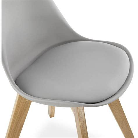 chaise simili cuir gris moderner stuhl stil skandinavischen sirene leder grau