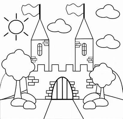 Castle Coloring Preschool Princess Castello Kasteel Princesses