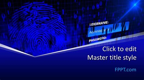 Free Authentication PowerPoint Template - Free PowerPoint ...