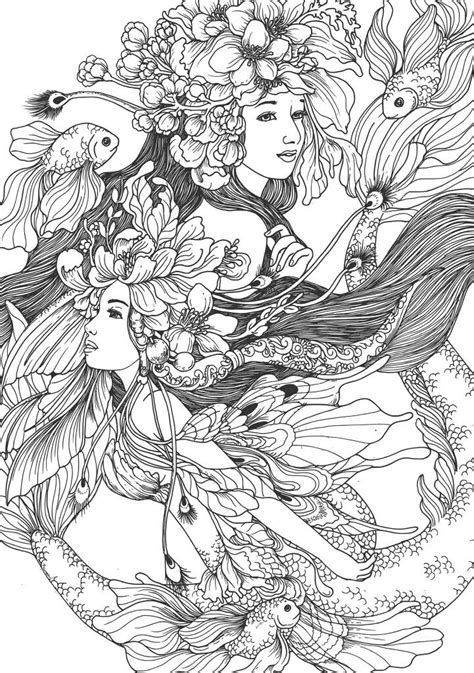 Image result for adele lorienne coloring pages | Mermaid