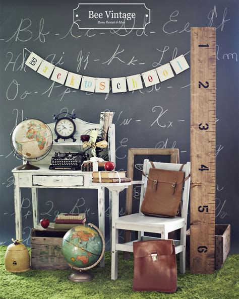 Backdrop Ideas For School by Bee Vintage Back To School Theme Items Displayed Can Be