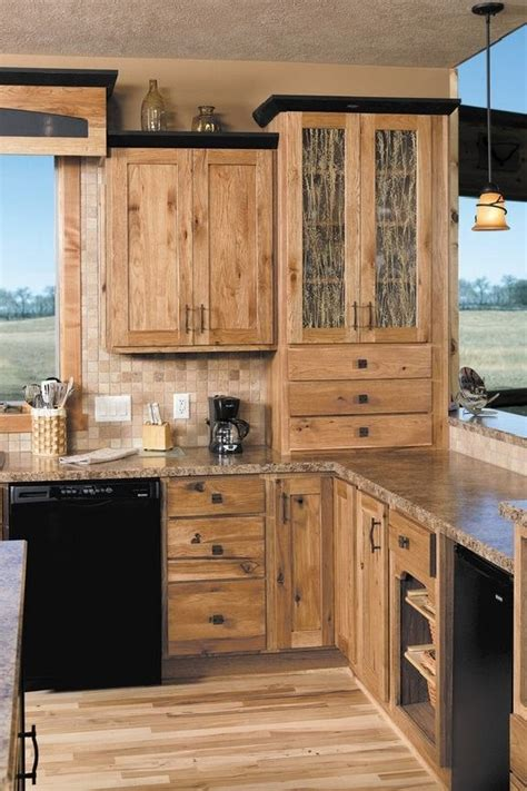 ideas  naturally beautiful hickory cabinets