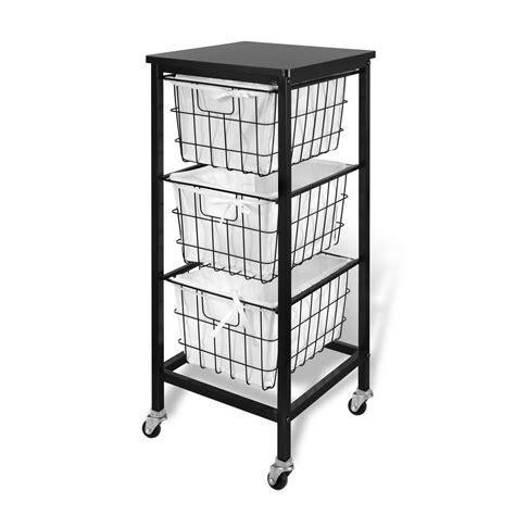 3 drawer storage cart 3 drawer wire storage cart espresso 22018 the home depot