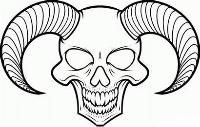 Creepy Drawing Skull Scary Easy Drawings Getdrawings