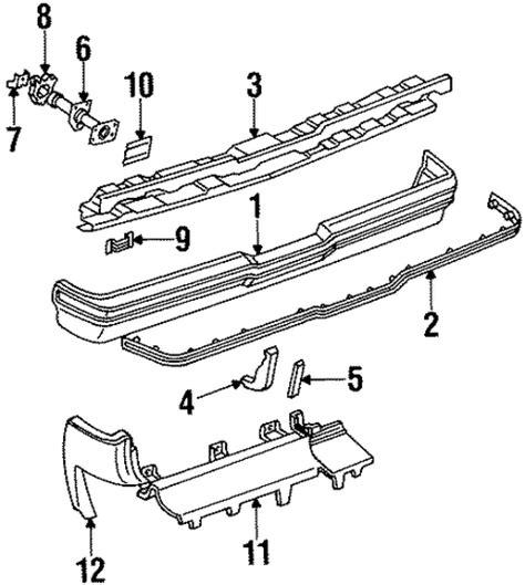 1984 Buick Riviera Parts bumper components rear parts for 1984 buick riviera