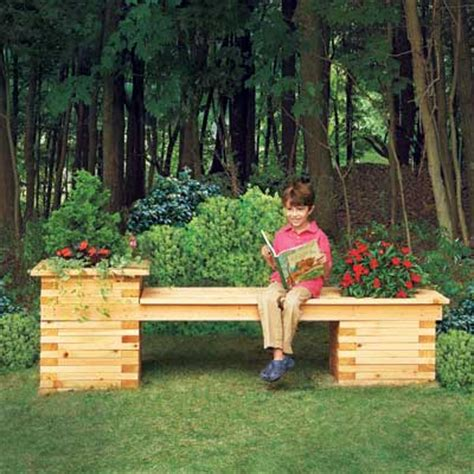 backyard built planter bench 19 beautiful backyard building projects