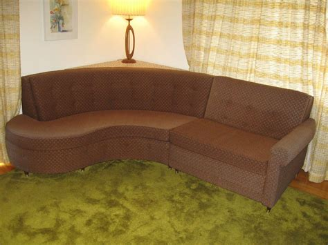 Vintage Sleeper Sofa by Mid Century Modern Castro Convertible Curved Sleeper Sofa