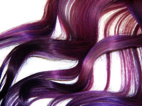 Human Hair Extensions Purple Ombre Extensions Clip In