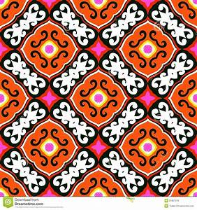 Suzani, Vector Pattern With Bold Ornament Royalty Free