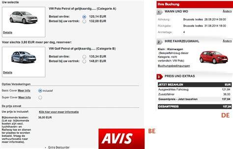 Price Discrimination In Car Hire Belgium-germany
