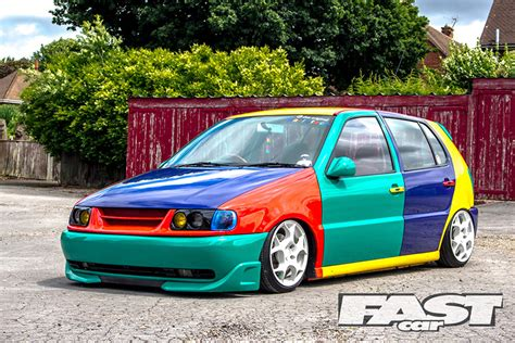 volkswagen polo black modified stanced vw polo fast car