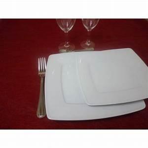 Assiette Blanche Carrée : assiette a dessert carre victoria en porcelaine blanche ~ Teatrodelosmanantiales.com Idées de Décoration