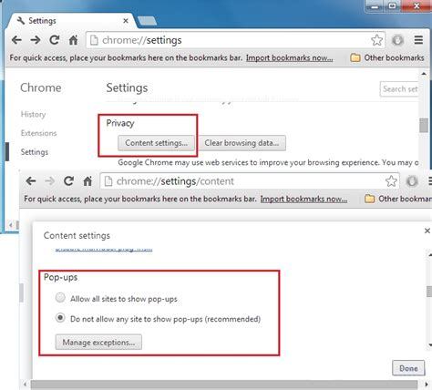 pop up blocker for android chrome block or allow pop ups in chrome android chrome