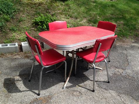 1950s and chrome kitchen table and chairs attainable