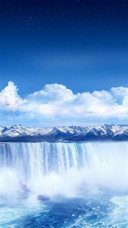 Iphone Winter Ios Wallpapers Waterfall Backgrounds Plus