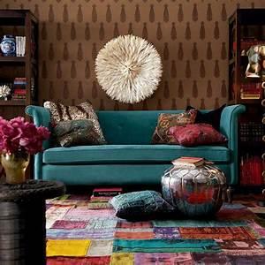 idee deco salon aux couleurs energisantes pour doper l With tapis jonc de mer avec canapé d angle cuir vert