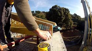 pose de la charpente industrielle youtube With escalier jardin en pente 11 charpente