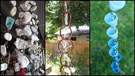 diy rain chain ideas  outdoor decor