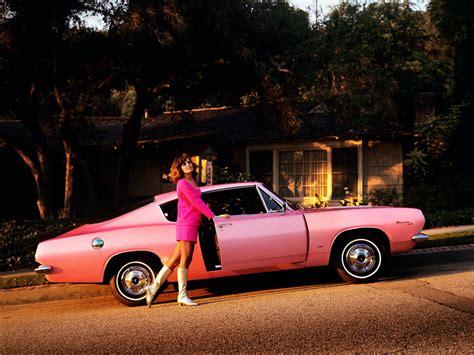 pink cars  retro girls  remind    playboy