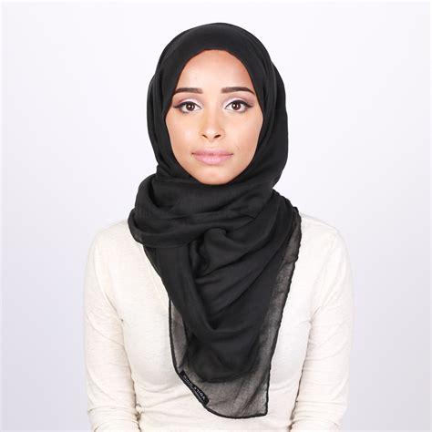 latest summer black thin hijab style hijabiworld