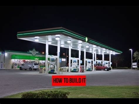 How To Build A Gas Station In Minecraft  Youtube