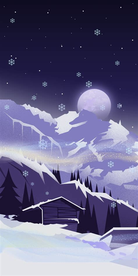 snowy wallpaper illustrations  iphone