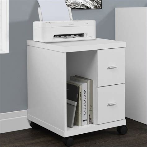 stand alone desk drawers monarch hollow core computer printer stand with castors in