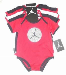Nike Air Jordan BABY BOYS BODYSUIT SHIRT CLOTHES LOT 5 PC ...