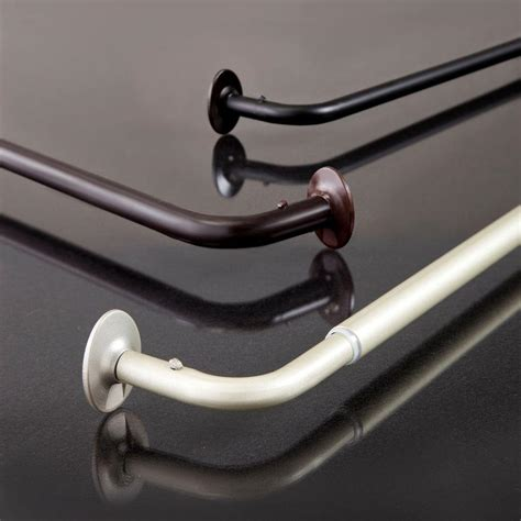 Eclipse Room Darkening Curtain Rod eclipse 48 in 86 in telescoping 5 8 in room darkening