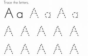 tracing letter a pages for kids to colour in coloring point With tracing letters for toddlers
