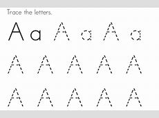 Traceable Letter A Printable Loving Printable