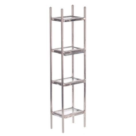 Chrome And Glass Etagere by Chrome Glass Etagere Dollhouse Racks Stands Superior