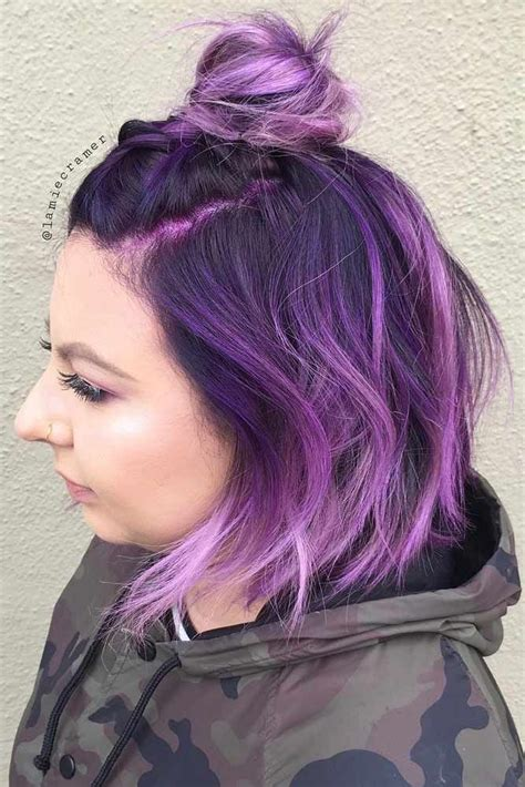And Purple Hairstyles by 67 Tempting And Attractive Purple Hair Looks Hair Scare