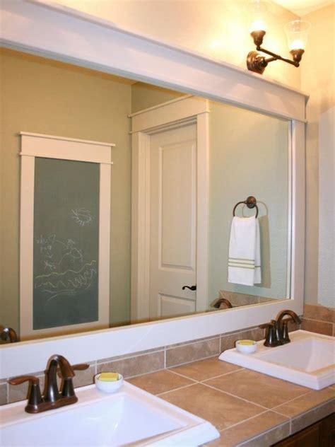 Framed Mirror For Bathroom by 10 Diy Ideas For How To Frame That Basic Bathroom Mirror
