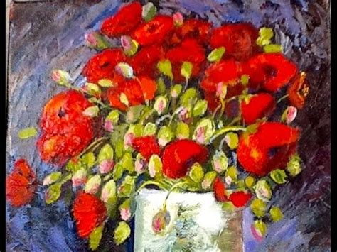Vase With Poppies Vincent Gogh by Vincent Gogh Vase With Poppies Part 1