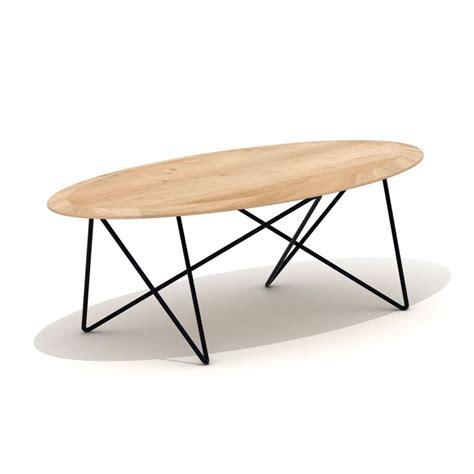 bureau lit grande table basse ovale table en chêne et métal orb