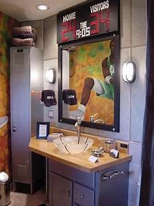Basketball themed bathroom bathroom design ideas for Sports themed bathroom decor