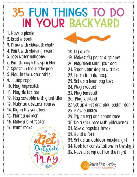 35 Fun Things to Do in Your Backyard this Summer Boredom