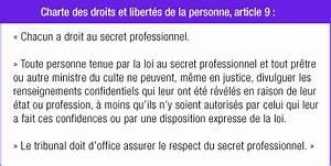 Charte Des Droits Et Libertés De La Personne Quebec Obligation De Respecter Le Secret Professionnel