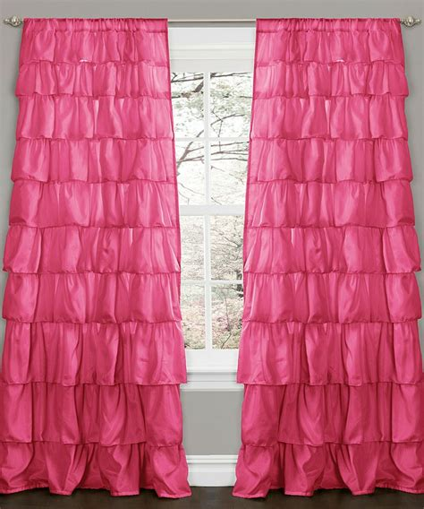 Ruffled Curtains Pink by Pink Ruffle Window Curtain Panel