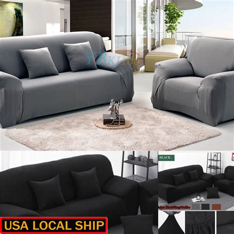 3 Loveseat Slipcover by 1 3 Seater Stretch Loveseat Sofa Protect Cover