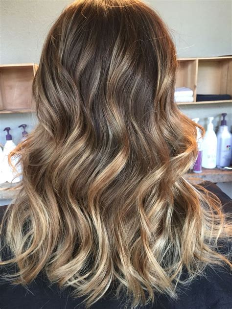 full balayage started  brown toned   beige gloss